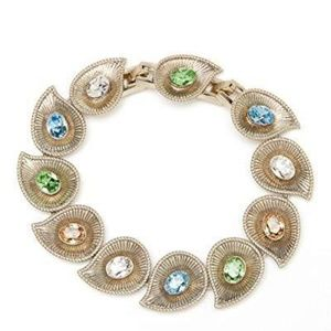 Princess Crystal Grace Gem and Swirl Bracelet